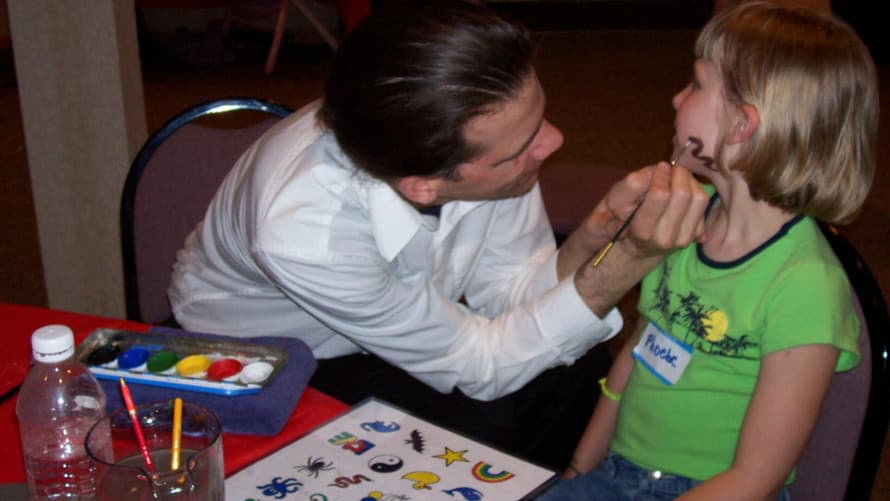 With Face Painting, another optional add-on, Gary adds color to your event, and makes party guests feel special!